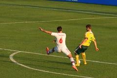 Joueur de football russe Images libres de droits