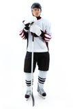 joueur de Glace-hockey Photographie stock libre de droits