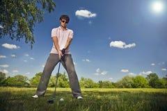 Joueur de golf Images stock
