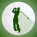 Joueur de golf Photographie stock