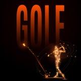 Joueur de golf poly Photo libre de droits