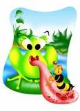 Joueur de grenouille Images stock