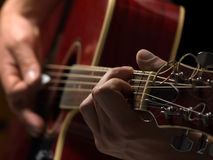 Joueur de guitare Photographie stock