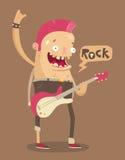 Joueur de guitare illustration libre de droits