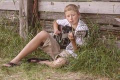 Joueur de guitare photos stock