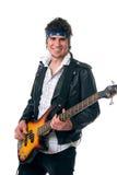 Joueur de guitare basse images libres de droits