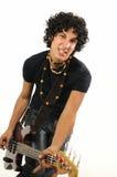 Joueur de guitare basse dernier cri Photos stock