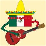 Joueur de guitare du Mexique Images libres de droits