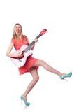 Joueur de guitare féminin Image libre de droits
