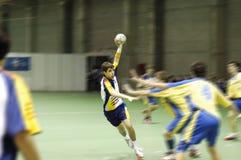 Joueur de handball Photographie stock libre de droits