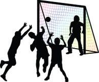 Joueur de handball Image stock