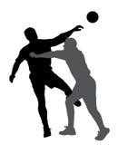 Joueur de handball bloquant le joueur opposé Photographie stock libre de droits