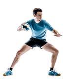 Joueur de handball d'homme d'isolement photo libre de droits