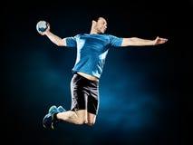 Joueur de handball d'homme d'isolement photos libres de droits
