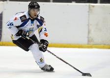 Joueur de hockey de glace Image stock