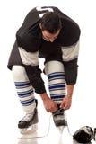Joueur de hockey sur glace images libres de droits