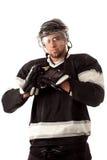 Joueur de hockey sur glace photographie stock libre de droits