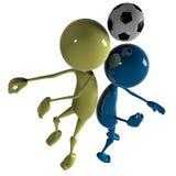 Joueur de joueur de football Photo stock