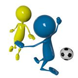 Joueur de joueur de football Photos stock