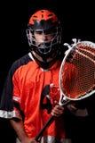 Joueur de Lacrosse image stock