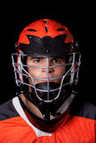 Joueur de Lacrosse photographie stock libre de droits