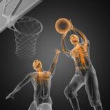 Joueur de match de basket Photographie stock