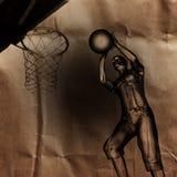 Joueur de match de basket peint Images stock