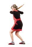 Joueur de pâte lisse de base-ball de femme au foyer Photographie stock