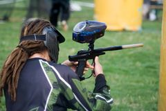 Joueur de Paintball Images stock