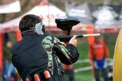 Joueur de Paintball Photo libre de droits