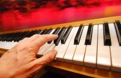 Joueur de piano Image libre de droits