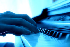 Joueur de piano Photo libre de droits