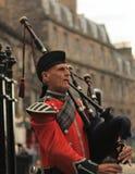 Joueur de pipeau écossais Photos stock