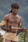Joueur de pipeau de carter d'îles Salomon Photographie stock