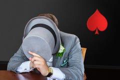 Joueur de poker photo libre de droits