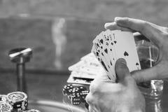 Joueur de poker Images libres de droits