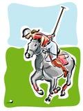 Joueur de polo illustration de vecteur