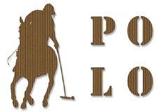 Joueur de polo de carton Photo libre de droits