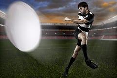 Joueur de rugby image stock