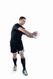 Joueur de rugby faisant un passage latéral Photo libre de droits