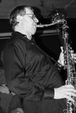 Joueur de saxo photo stock