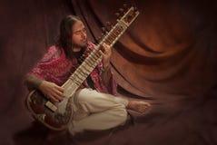 Joueur de sitar Photographie stock libre de droits