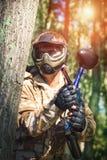Joueur de sport de Paintball image libre de droits