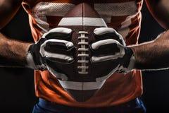 Joueur de sportif de football américain Image stock