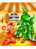 Joueur de tambourine d'elfe Photos stock