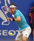 Joueur de tennis argentin Leonardo Mayer Photographie stock libre de droits