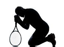 Joueur de tennis d'homme photographie stock libre de droits