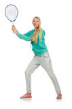 Joueur de tennis d'isolement Photos stock