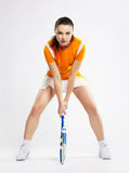 Joueur de tennis de fille Photo stock