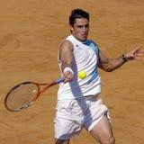 Joueur de tennis de triphosphate d'adénosine ; Marcos Daniel (SOUTIEN-GORGE) image libre de droits
